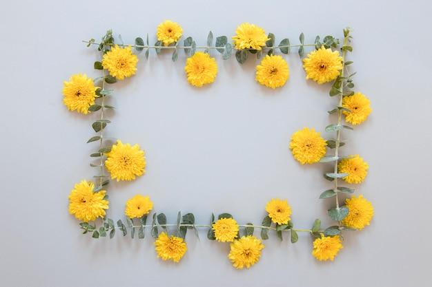 Disposizione piatta di splendidi fiori assortimento