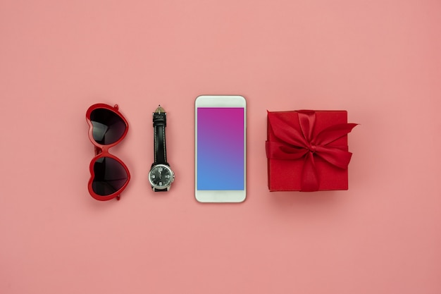 Flat lay image of accessory clothing man or women to plan travel in holiday background .