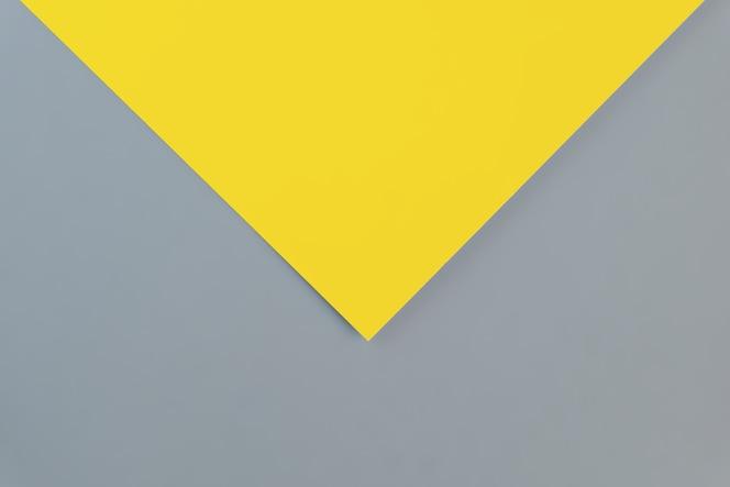 트렌디 한 2021 새로운 색상의 플랫 레이. 밝은 노란색과 궁극의 회색. 2021 년 올해의 색.
