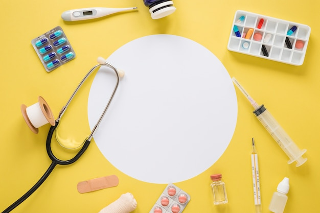 Flat lay medical composition
