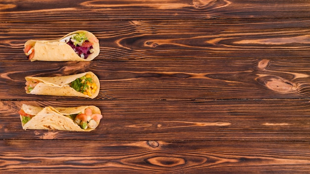 Flat lay mexican food composition with copyspace