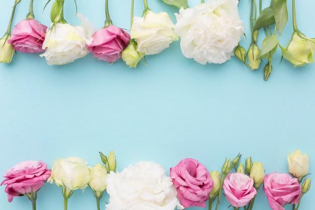평평한 미니 장미 배열