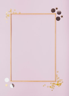 Flat lay minimalist frame with copy space