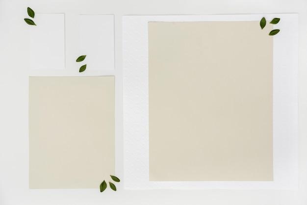 Flat lay mock-up wedding cards