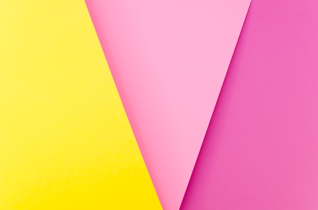 Flat lay of multicolored shapes from paper
