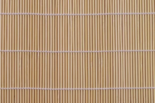 竹製ランチョンマットのフラットレイ