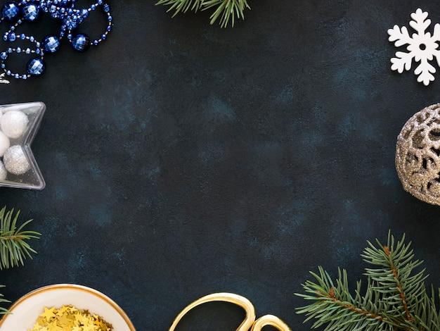 Плоская планировка красивой рождественской концепции