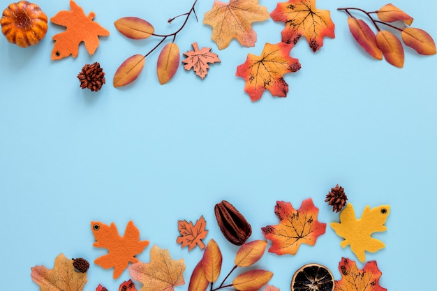 コピースペースと美しい自然の概念のフラットレイアウト