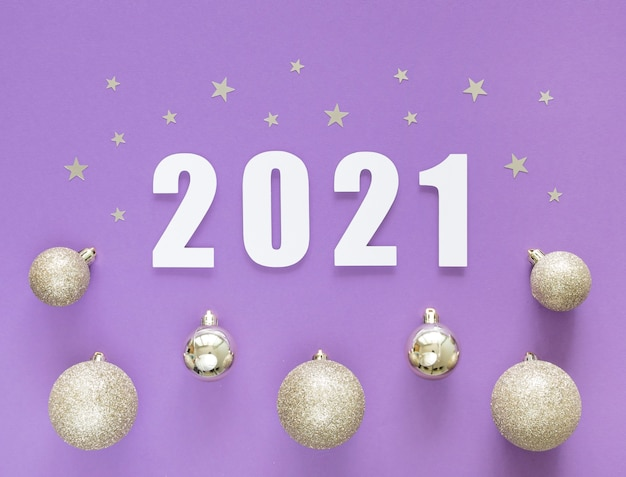Плоская планировка красивой новогодней концепции