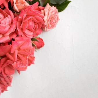 아름 다운 발렌타인 개념의 평면 배치