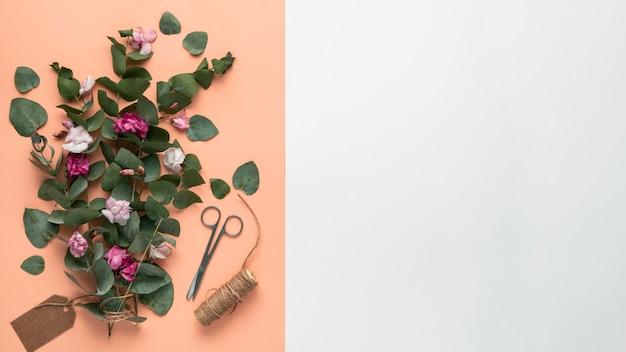 Плоская планировка красивой концепции дня святого валентина