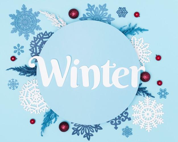 Плоская планировка красивой зимней концепции