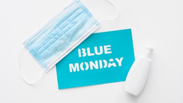 Плоская планировка синего понедельника с копией пространства