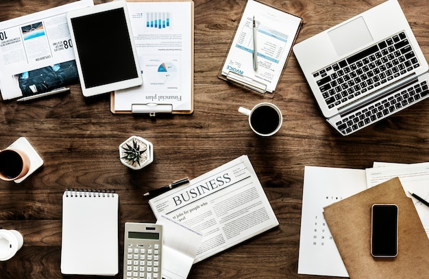 ビジネスコンセプトのフラットなレイアウト