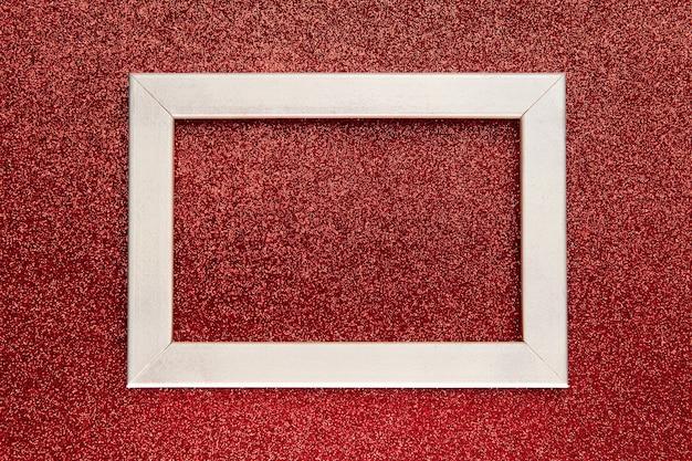 Плоская планировка карты, рамка с местом для текста на ярко-красном фоне блеска