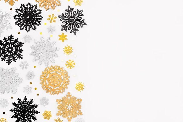 コピースペースとクリスマスコンセプトのフラットレイ
