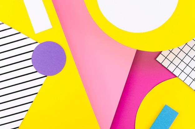 Плоская раскладка красочных бумажных форм