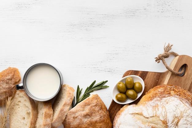 おいしいパンのコンセプトのフラットレイアウト