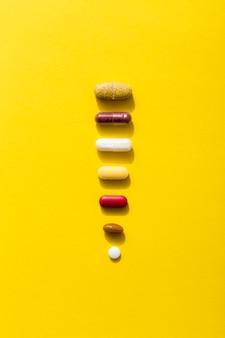 異なる錠剤を昇順に並べてフラット