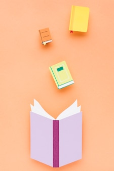 教育の日の概念のフラットレイ