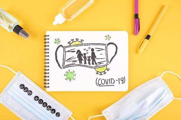 Плоская планировка новых предметов первой необходимости для нормальной школы