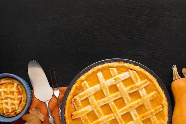 Плоский тыквенный пирог на день благодарения