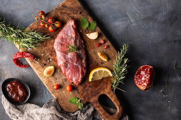 원시 고기 개념의 평면 배치