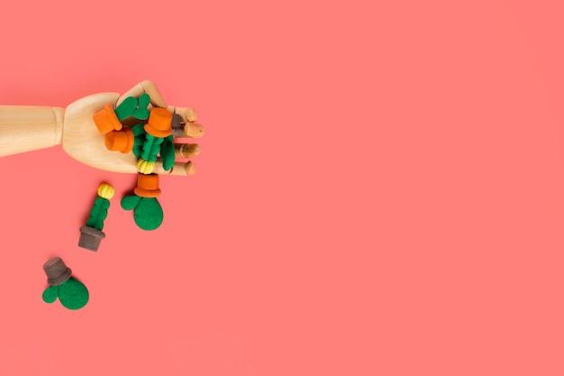 Плоский рельеф губки на простой фон с копией пространства