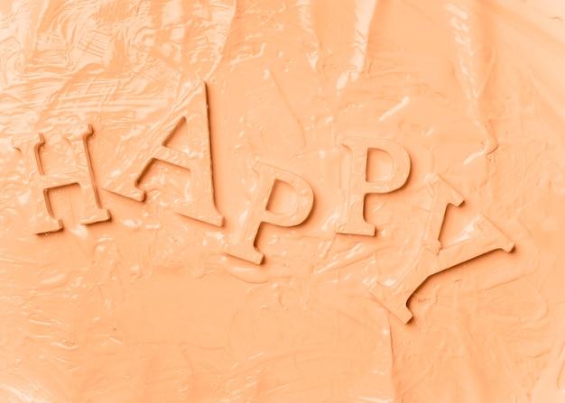 Плоские слова счастливы с краской