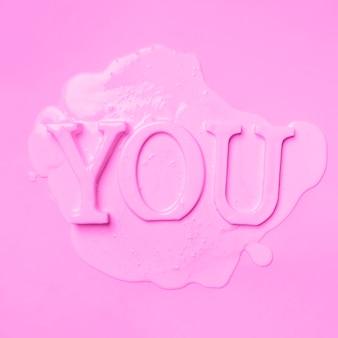 Плоская раскраска тебя с краской