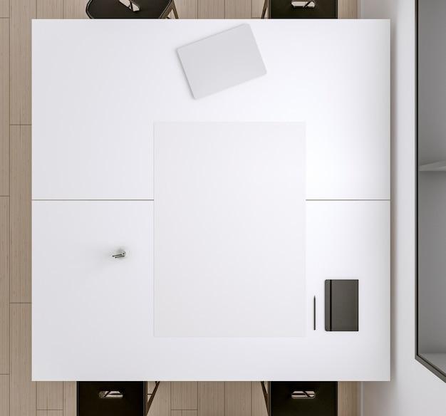 Плоская бумага и блокнот на столе