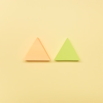 Frecce piatte di colore pastello