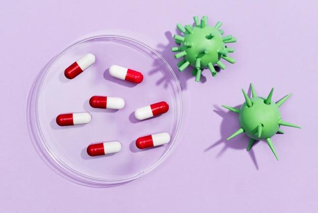 ウイルスのための平らな丸薬
