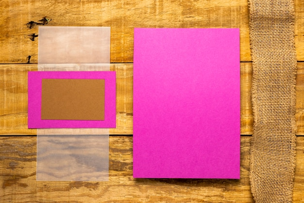 Flat lay pink weeding invitation envelopes