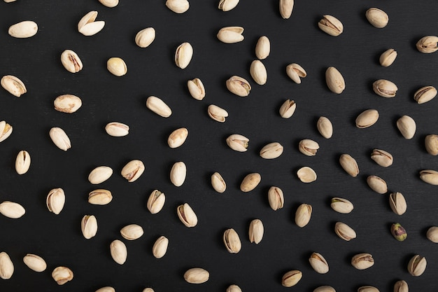 Flat lay of pistachios