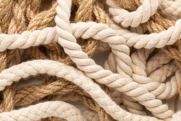 Плоская композиция текстуры веревки