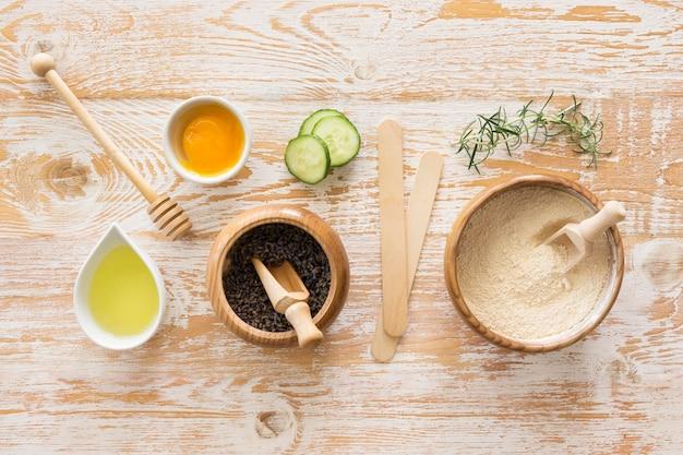 Concetto di trattamento termale piatto laico