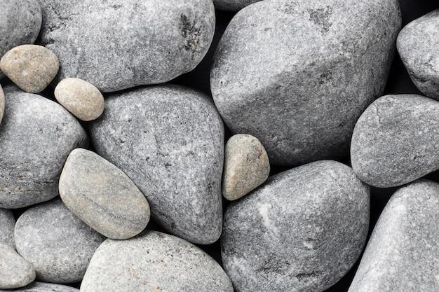 Плоская каменная коллекция крупным планом