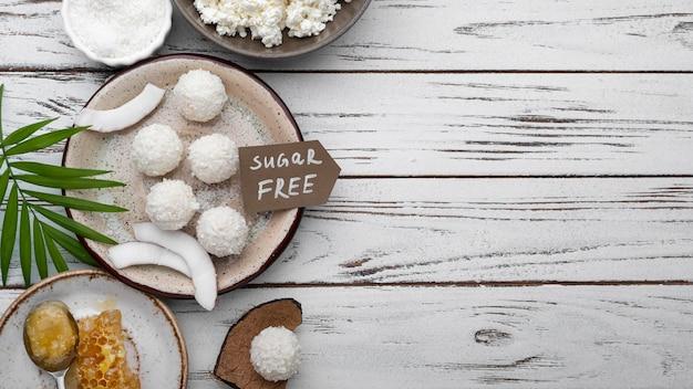 Плоские кокосовые конфеты без сахара
