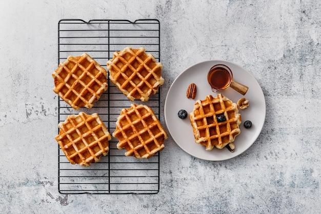 Плоская планировка вкусного завтрака
