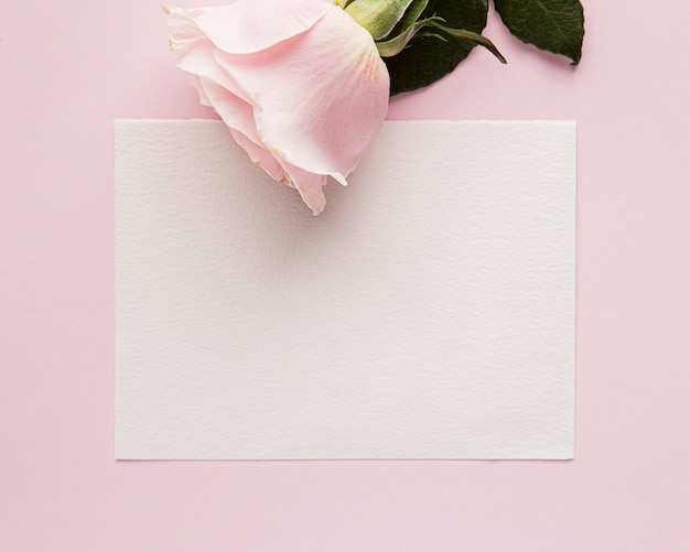 Flat lay of valentine's day concept with copy space