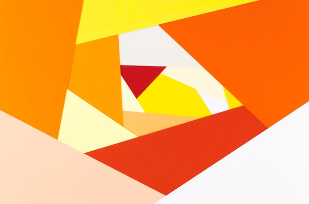 Flat lay of vibrant abstract paper shaper