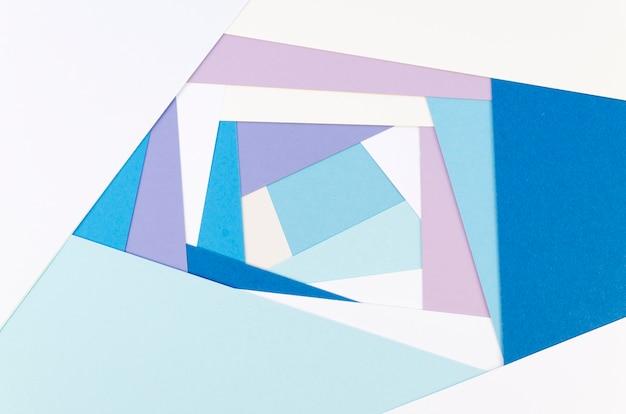 Flat lay of vibrant geometric paper shapes