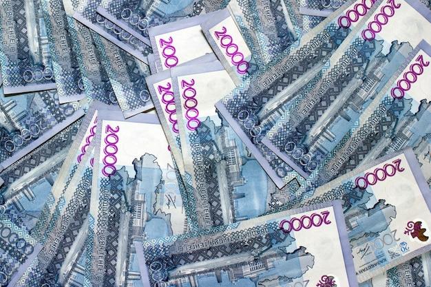 Плоский вид на фоне национальной валюты qazaq 20,000 тенге