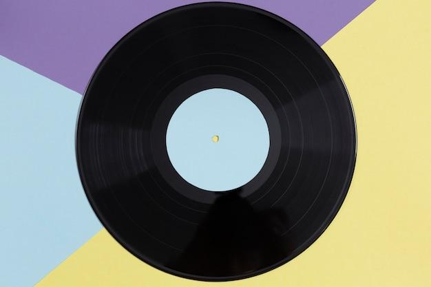 Flat lay vinyl record composition