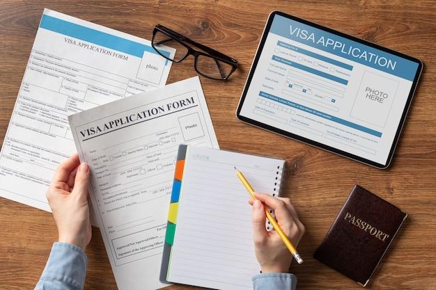 Порядок подачи заявления на получение визы
