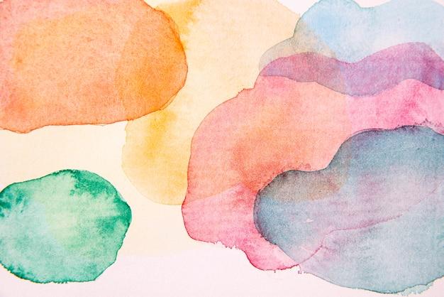 フラットレイ水彩絵の具の壁紙