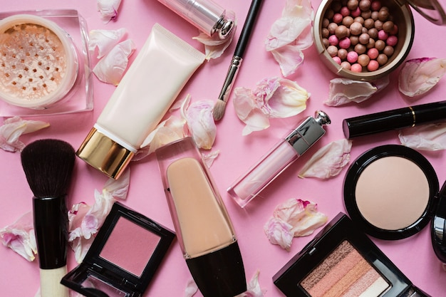 Плоская планировка с декоративной косметикой