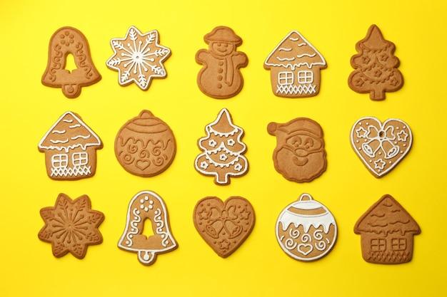おいしいクリスマスクッキーとフラットレイ