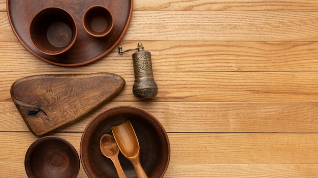 フラットレイ木製食器コレクション